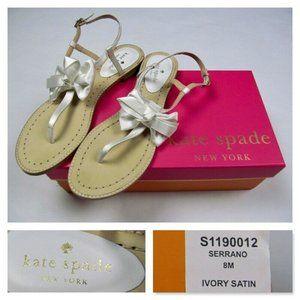 Kate Spade Ivory Satin Serrano Sandals
